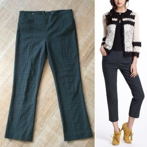 Anthropologie Nella Stretch Trouser Crop Pant Sz 8